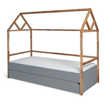 Szare łóżko dziecięce BELLAMY Lotta, 90x200 cm