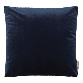 Granatowa poszewka na poduszkę z efektem aksamitu Blomus, 45x45cm