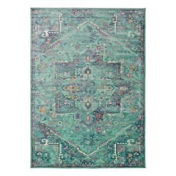 Turkusowy dywan z wiskozy Universal Lara, 140x200 cm