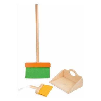 Drewniany zestaw do sprzątania dla dzieci Legler Broom