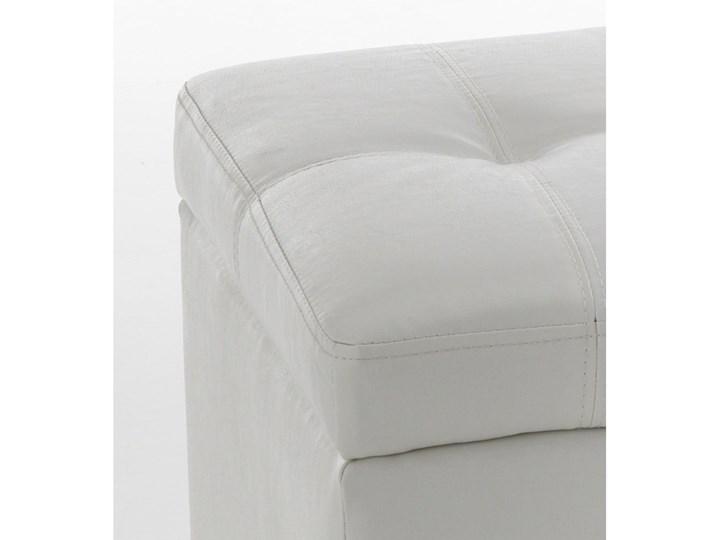 Biała ławka ze schowkiem Tomasucci Nice Pikowana Pomieszczenie Sypialnia Skrzynia Kolor Biały