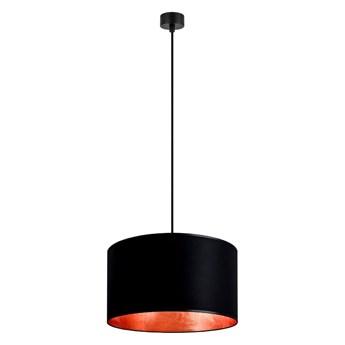 Czarna lampa wisząca z wnętrzem w kolorze miedzi Sotto Luce Mika, ⌀ 40 cm