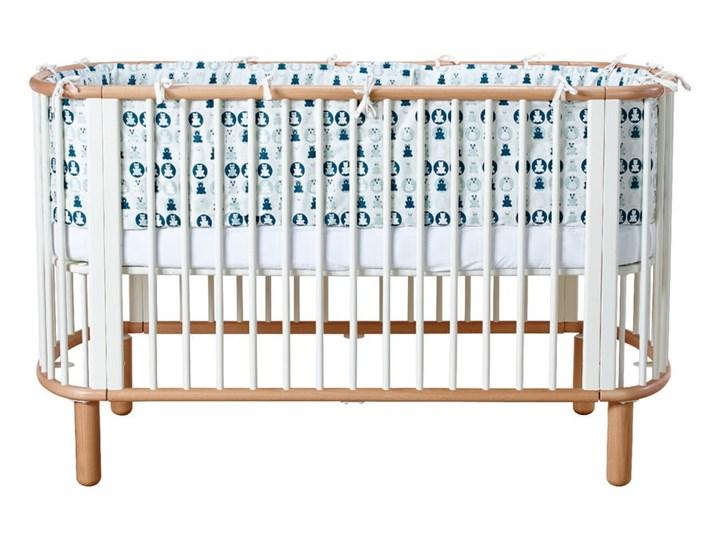 Białe łóżeczko dziecięce z drewna bukowego Flexa Baby, 70x140 cm Drewno Łóżeczka drewniane Kolor Biały