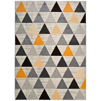 Szaro-pomarańczowy dywan Universal Leo Triangles, 80x150 cm