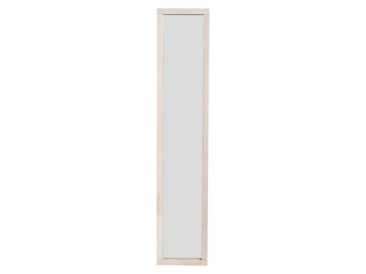 Lakierowana matowa szafka z drewna dębowego na klucze z lustrem Rowico Sol Kategoria Szafki i wieszaki na klucze Drewno Wieszak na klucze Szafka na klucze Kolor Beżowy