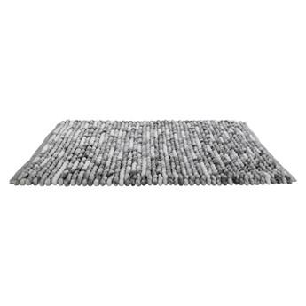 Szary dywanik łazienkowy Wenko Smooth Grey, 90x60 cm