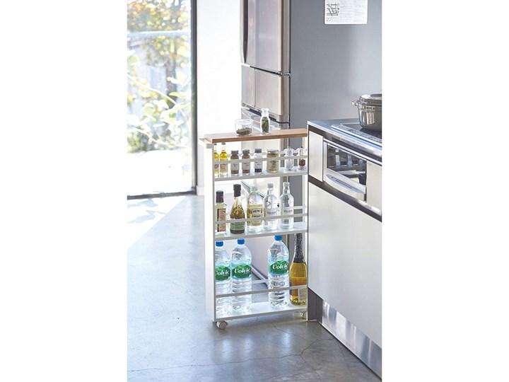 Biały regał na kółkach YAMAZAKI Tower Slim Płyta MDF Kategoria Szafki kuchenne