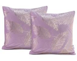 Zestaw 2 jasnofioletowych poszewek na poduszkę DecoKing Golden Leafes Lilac, 45x45 cm