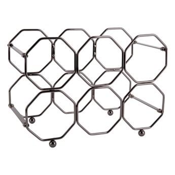 Szary metalowy składany stojak na wino PT LIVING Honeycomb