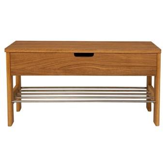 Ławka z litego drewna dębowego Canett Uno, dł. 34 cm
