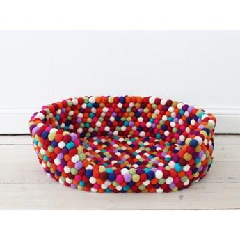 Ciemnoczerwone kulkowe wełniane legowisko dla zwierząt Wooldot Ball Pet Basket, 40x30 cm