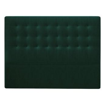 Butelkowozielony zagłówek z aksamitnym obiciem Windsor & Co Sofas Athena, 160x120 cm