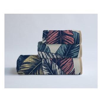 Komplet 3 ręczników z bawełny i mikrowłókna Surdic Banana Palm