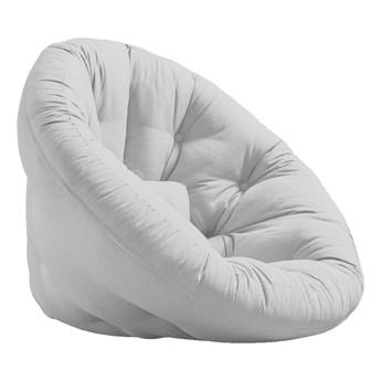 Rozkładany fotel z jasnoszarym obiciem Karup Design Nest Light Grey
