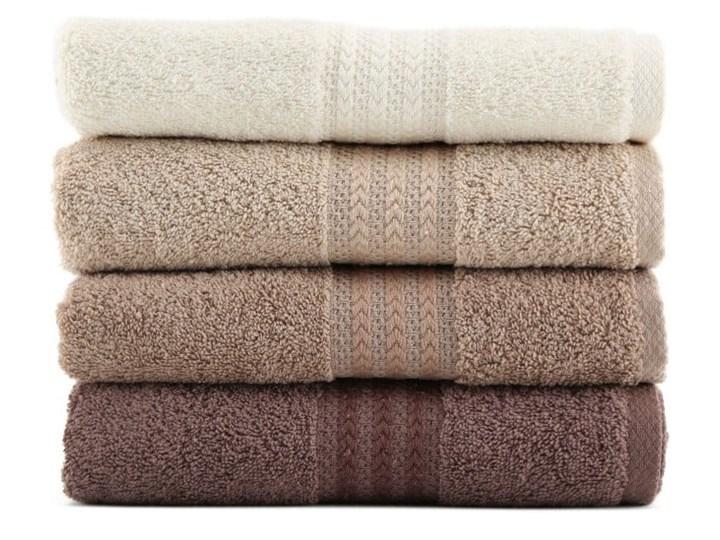 Zestaw 4 brązowych bawełnianych ręczników Rainbow Home, 50x90 cm Ręcznik kąpielowy Bawełna Frotte Kategoria Ręczniki Komplet ręczników Łazienkowe Kolor Beżowy