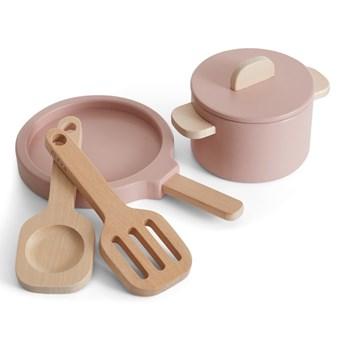 Zestaw drewnianych garnków do zabawy Flexa Play Pot & Pan