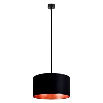 Czarna lampa wisząca z wnętrzem w kolorze miedzi Sotto Luce Mika, ⌀ 36 cm