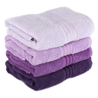 Zestaw 4 fioletowych ręczników kąpielowych Rainbow Violet, 70x140 cm