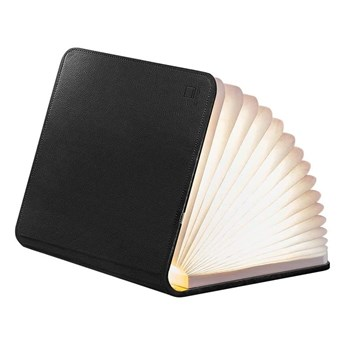 Czarna lampa stołowa LED w kształcie książki Gingko Mini