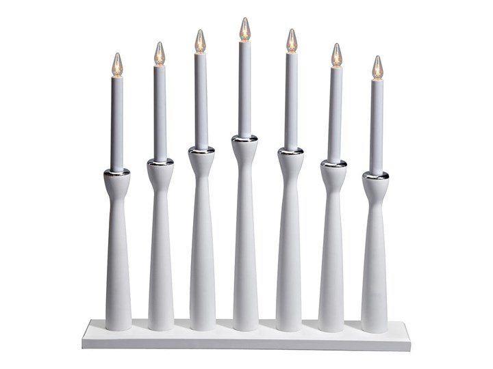 Biały świecznik Markslöjd Måseskär, wys. 50 cm