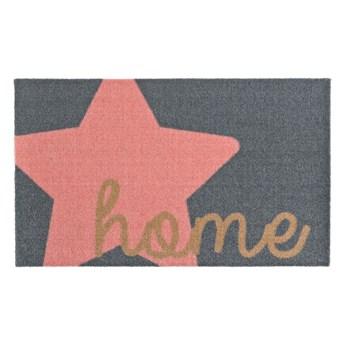 Szaro-różowa wycieraczka Zala Living Design Star Home Grey Pink, 50x70 cm