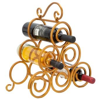 Stojak na wino w kolorze złotym Mauro Ferretti