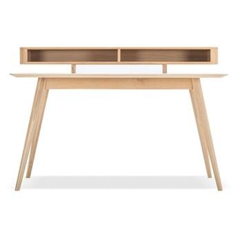Biurko z litego drewna dębowego z półką Gazzda Stafa