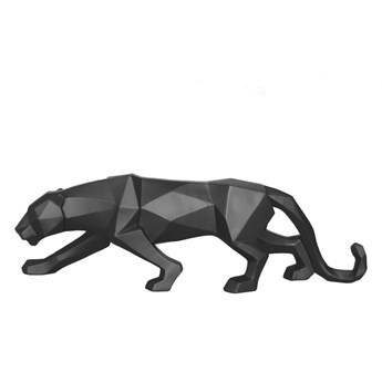 Matowa czarna figurka w kształcie pantery PT LIVING Origami Panther