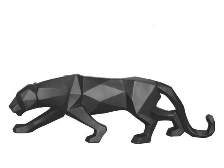 Matowa czarna figurka w kształcie pantery PT LIVING Origami Panther Zwierzęta Kolor Czarny