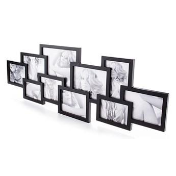 Czarna ścienna ramka na 10 zdjęć Tomasucci Collage