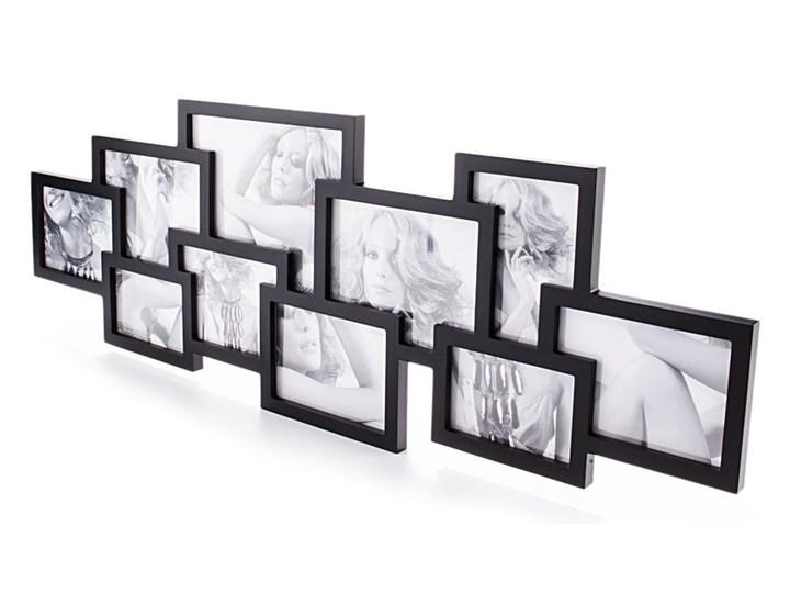 Czarna ścienna ramka na 10 zdjęć Tomasucci Collage Drewno Multiramka Pomieszczenie Sypialnia Kolor Czarny