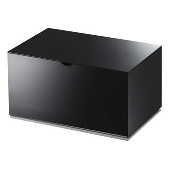 Czarny pojemnik łazienkowy YAMAZAKI Veil