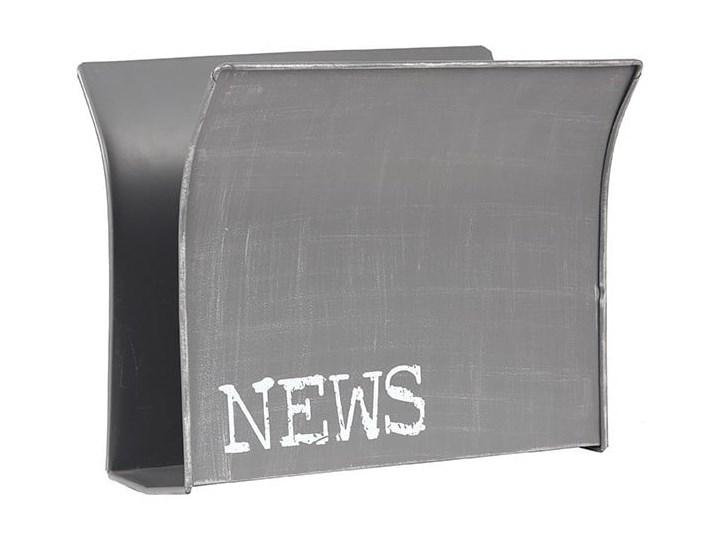 Szary gazetnik metalowy LABEL51