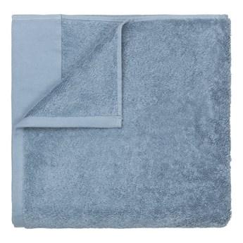 Niebieski bawełniany ręcznik kąpielowy Blomus, 100x200 cm