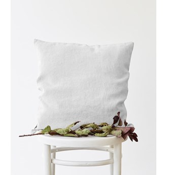 Biała lniana poszewka na poduszkę Linen Tales, 45x45 cm