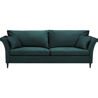 Zielononiebieska rozkładana sofa ze schowkiem Mazzini Sofas Pivoine