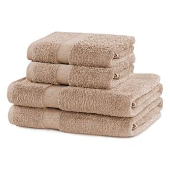 Komplet 4 beżowych ręczników DecoKing Marina Beige