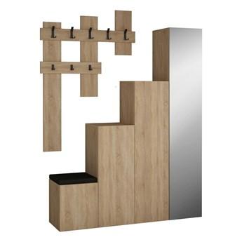 Komplet szafy i wieszaka ściennego Homitis Up Sonomo