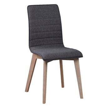 Ciemnoszare krzesło do jadalni z jasnoszarymi nogami Rowico Grace