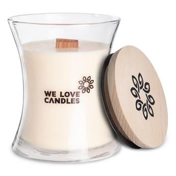 Świeczka z wosku sojowego We Love Candles Ivory Cotton, 64 h