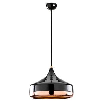 Czarna lampa wisząca z elementami w kolorze miedzi Opviq lights Yildo, ø 36 cm