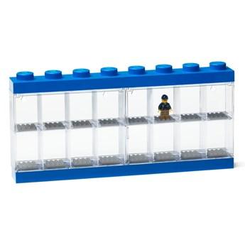 Niebieski pojemnik kolekcjonerski na 16 mini figurek LEGO®