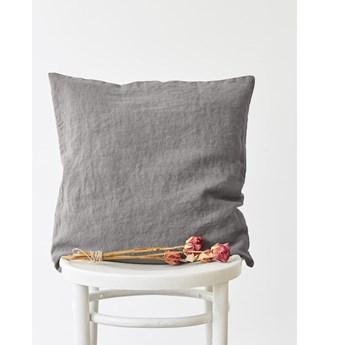 Popielata lniana poszewka na poduszkę Linen Tales, 45x45 cm