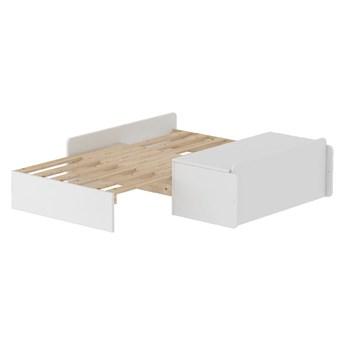 Biała rozkładana sofa dziecięca Flexa White