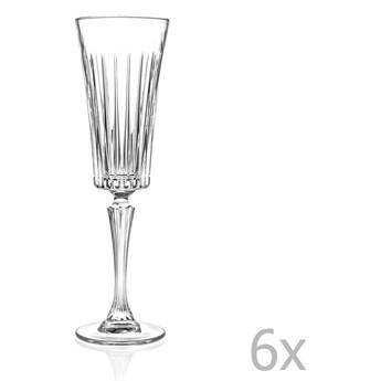 Zestaw 6 kieliszków do szampana RCR Cristalleria Italiana Edvige, 210ml