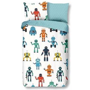 Pościel dziecięca z bawełny Good Morning Robots, 140x200 cm