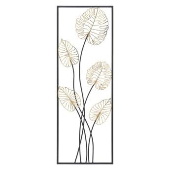 Metalowa dekoracja wisząca z wzorem liści Mauro Ferretti Luxy -B-, 31x90 cm