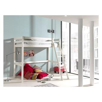 Białe łóżko dziecięce z drabinką Vipack Pino, 90x200 cm
