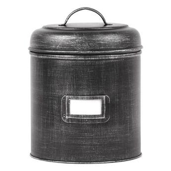 Czarny pojemnik metalowy LABEL51, ⌀ 21 cm