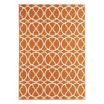 Pomarańczowy dywan odpowiedni na zewnątrz Floorita Interlaced, 133x190 cm